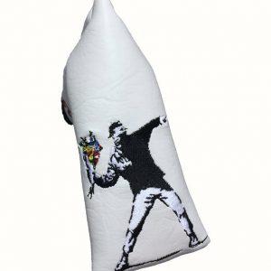 golf-shop-putter-cover-banksy-flower-thrower-shop