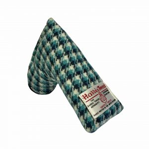 golf-shop-putter-cover-cornflower-harris-tweed-blade-shop