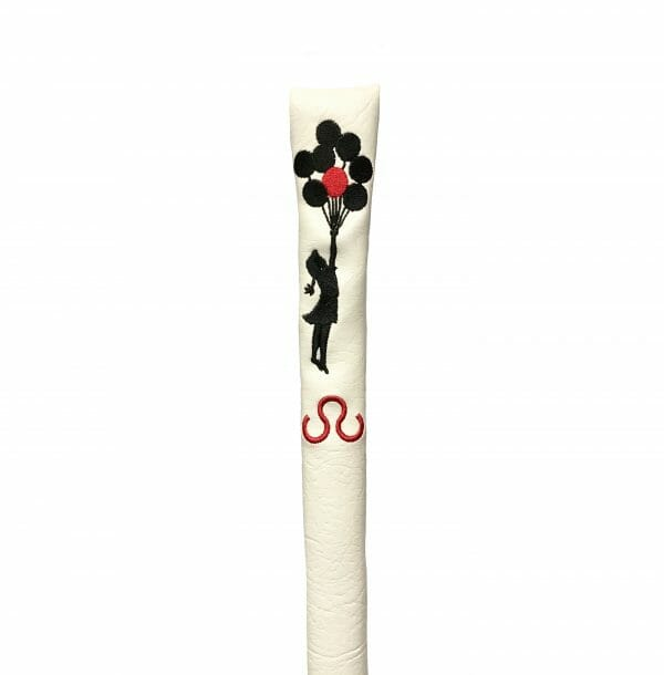 golf-shop-alignment-stick-cover-Banksy-balloon-girl-shop