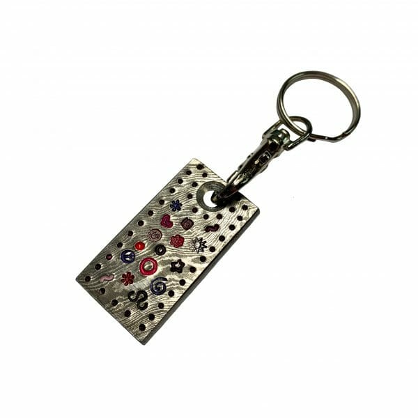 golf-shop-key-rings-online-damascus-swirls-and-shapes-back-shop